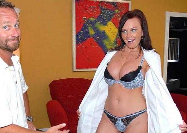 big titties in lingerie